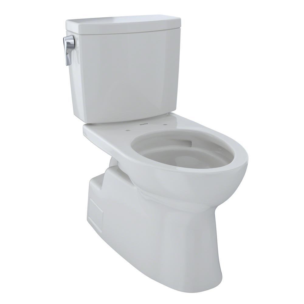 TOTO Vespin II 2-Piece 1.0 GPF Single Flush Elongated Toilet with CeFiONtect in Colonial White