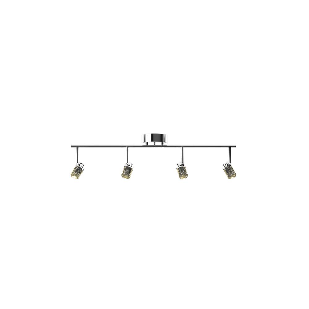 Chrome And Black Track Lighting: Eglo Naudella 2.5 Ft. Chrome Integrated LED Track Lighting
