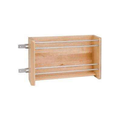 8 in. H x 16.13 in. W x 4 in. D Large Wood Door Mount Foil Rack