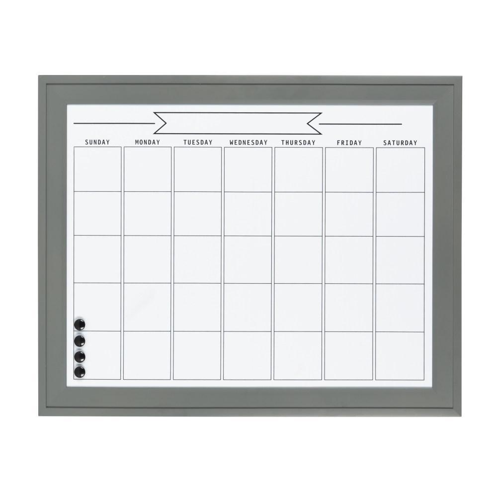 Bosc Monthly Dry Erase Calendar Memo Board