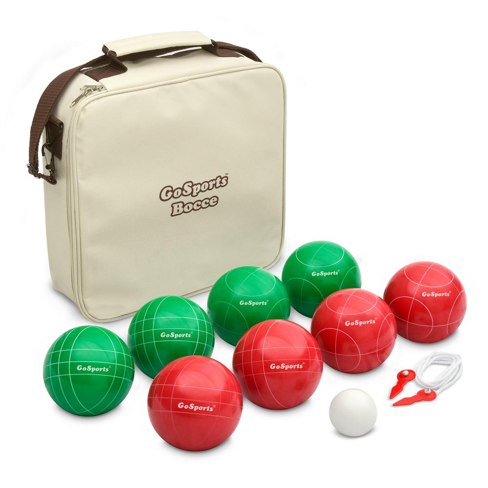 100 mm Regulation Bocce Set with 8 Balls, Pallino, Portable Carry