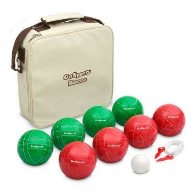100 mm Regulation Bocce Set with 8 Balls, Pallino, Portable Carry Case and Measuring Rope - Premium Official Size Set