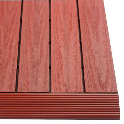 1/6 ft. x 1 ft. Quick Deck Composite Deck Tile Straight Fascia in Swedish Red (4-Pieces/Box)