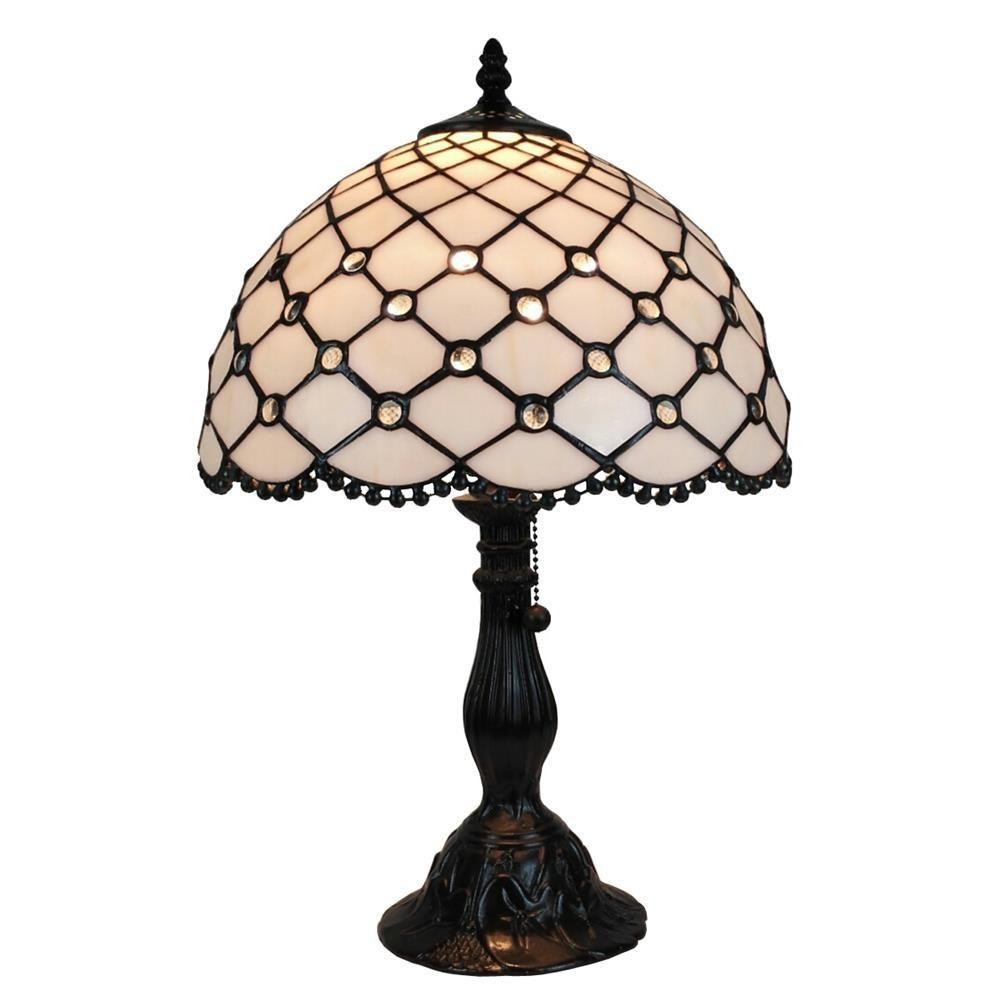 Amora Lighting 19 In Tiffany Style Jewel Table Lamp