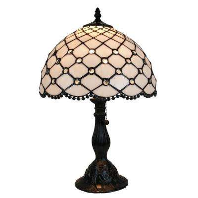 19 in. Tiffany Style Jewel Table Lamp