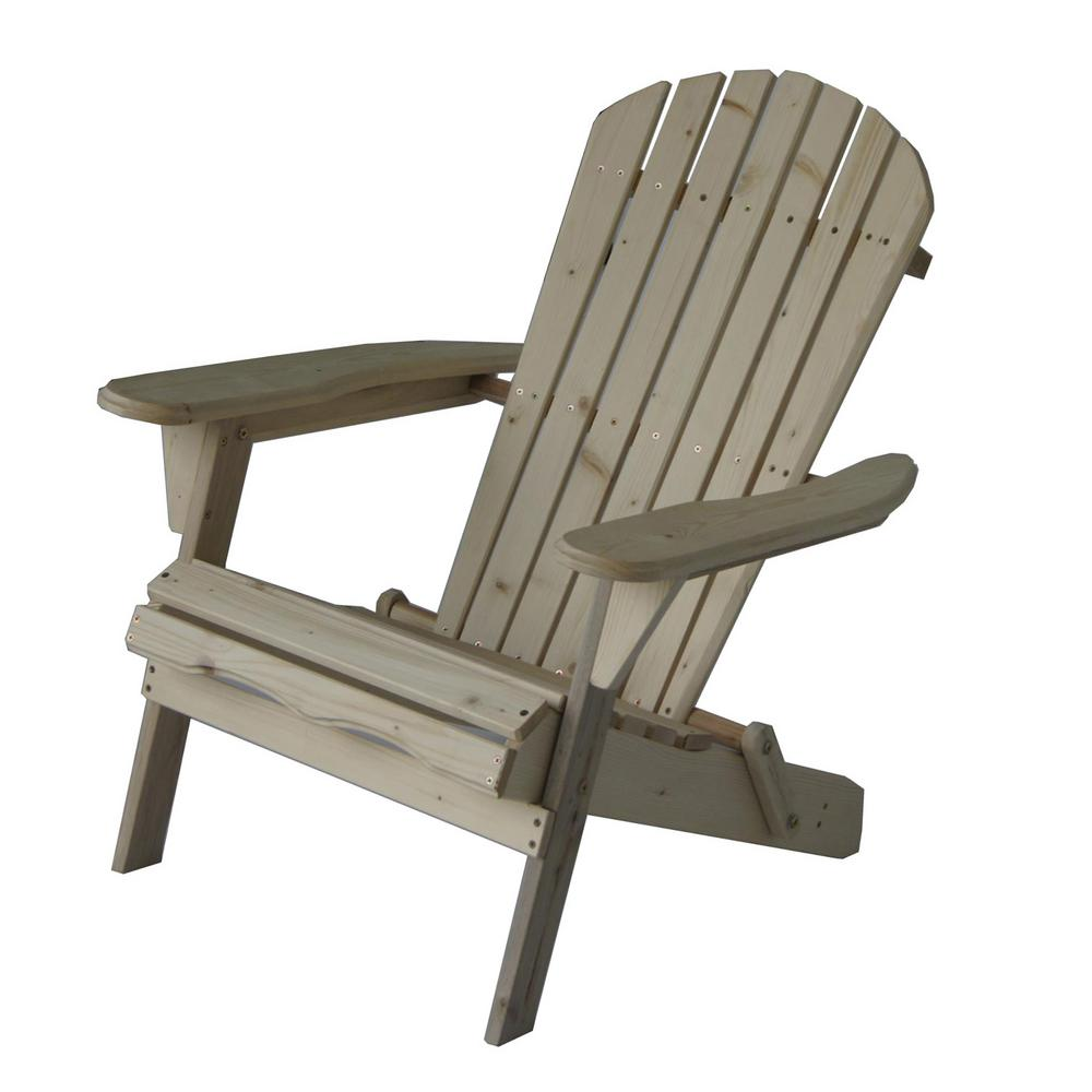 Delicieux Su0027DENTE Villaret Natural Folding Wood Adirondack Chair