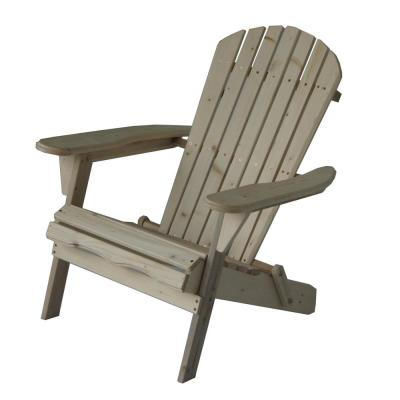 Villaret Natural Folding Wood Adirondack Chair