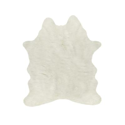 Josephine Off White 7 ft. x 11 ft. Specialty Faux Fur Area Rug
