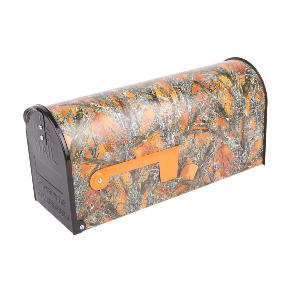 Orange Post Mount Mc2 Blaze Mailbox
