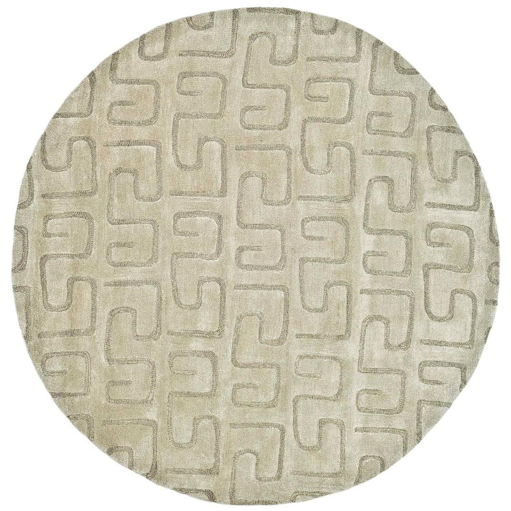 Safavieh Soho Light Green 6 ft. x 6 ft. Round Area Rug