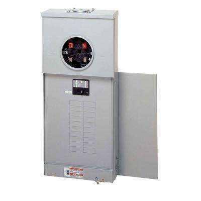 200 Amp 20-Space 40-Circuit BR Type Main Breaker Meter Breaker Top Only Surface EUSERC