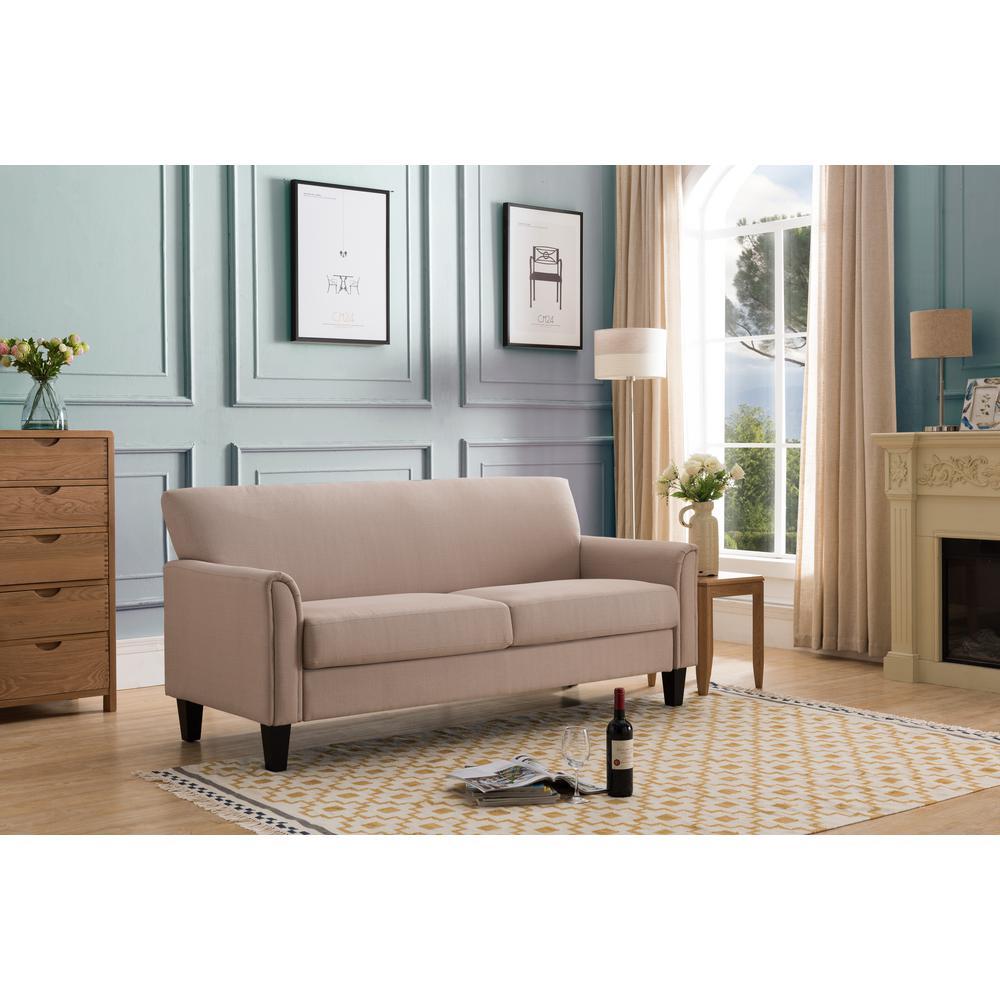 bari cream upholstered sofa