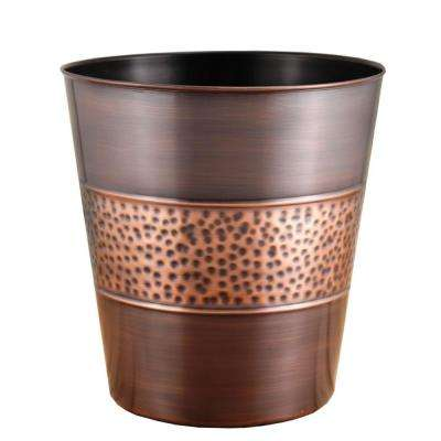3 gal. Hammered Tonal Bronze/Copper Round Trash Can