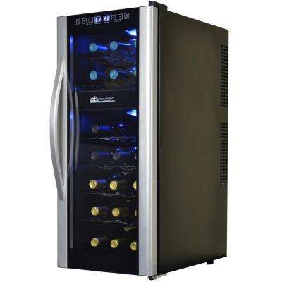 Dual Zone 13.6 in. 21-Bottle Freestanding Wine Cooler