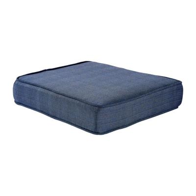 Spring Haven 23.25 x 19.2 Outdoor Ottoman Cushion in Olefin Blue
