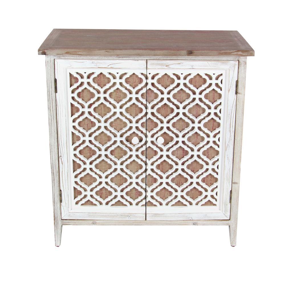 Carve Patterned Wooden Cabinet