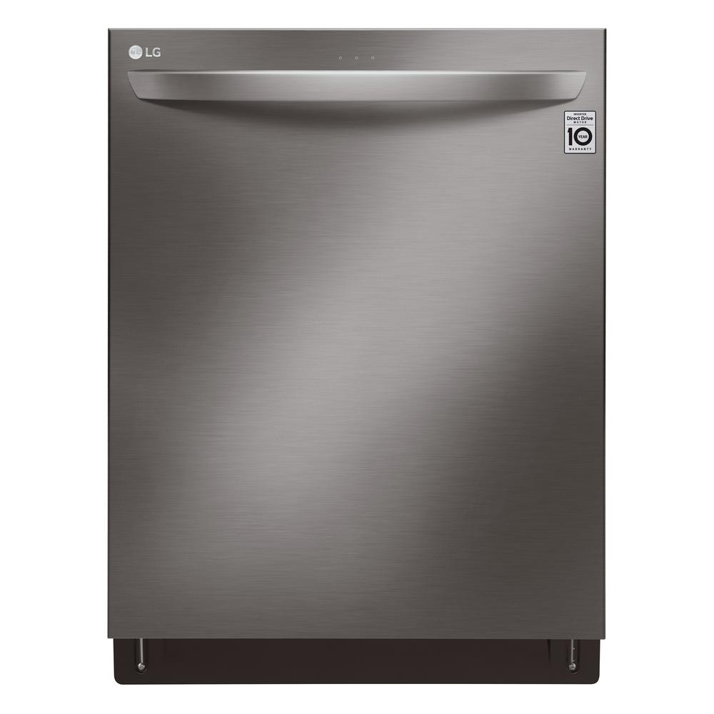 LG Electronics Top Control Dishwasher in Black Stainless Steel Wi-Fi Enabled with QuadWash, 44 dBA