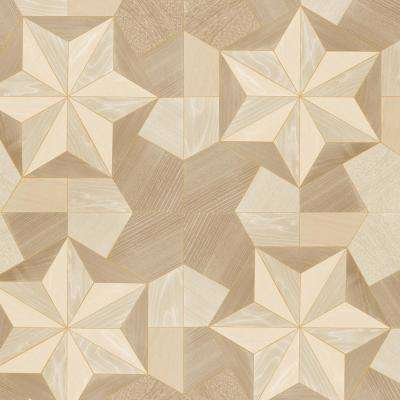 Ochre, Golds and Blonde Inlay Wood Wallpaper