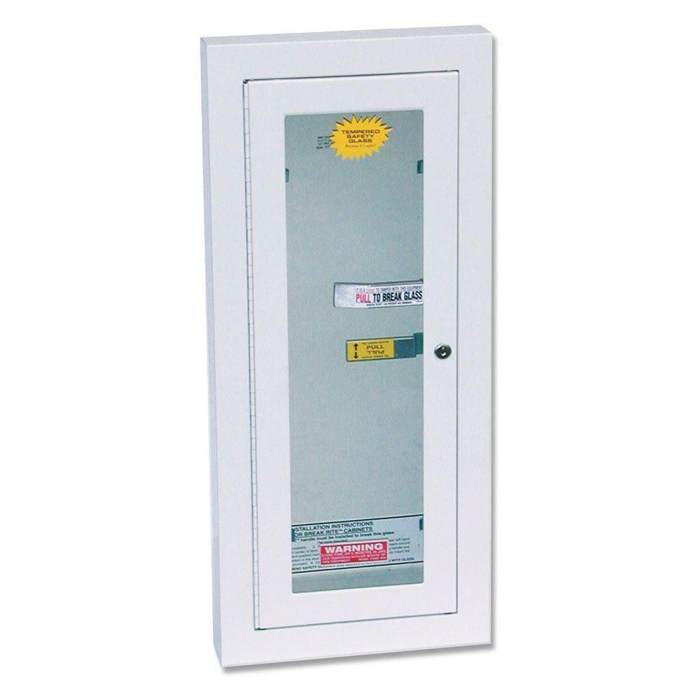10 lbs. Semi-Recessed Locked Fire Extinguisher Cabinet