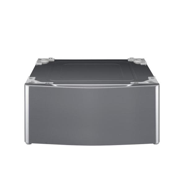 27 in. Laundry Pedestal with Storage Drawers for Washers and Dryers in Graphite Steel