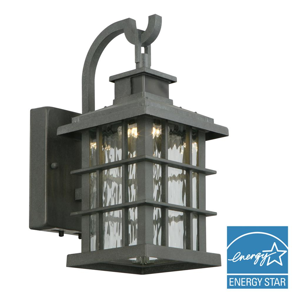 Wrought iron outdoor wall mounted lighting outdoor lighting summit ridge collection zinc motion sensor outdoor integrated led small wall mount lantern aloadofball Images