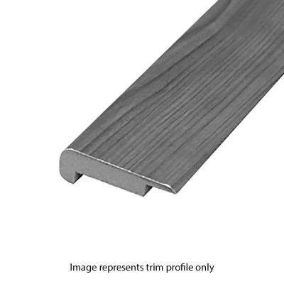 Aged Bark Oak 0.75 in. Thick x 2.37 in. Wide x 78.7 in. Length Laminate Overlap Stairnose Molding