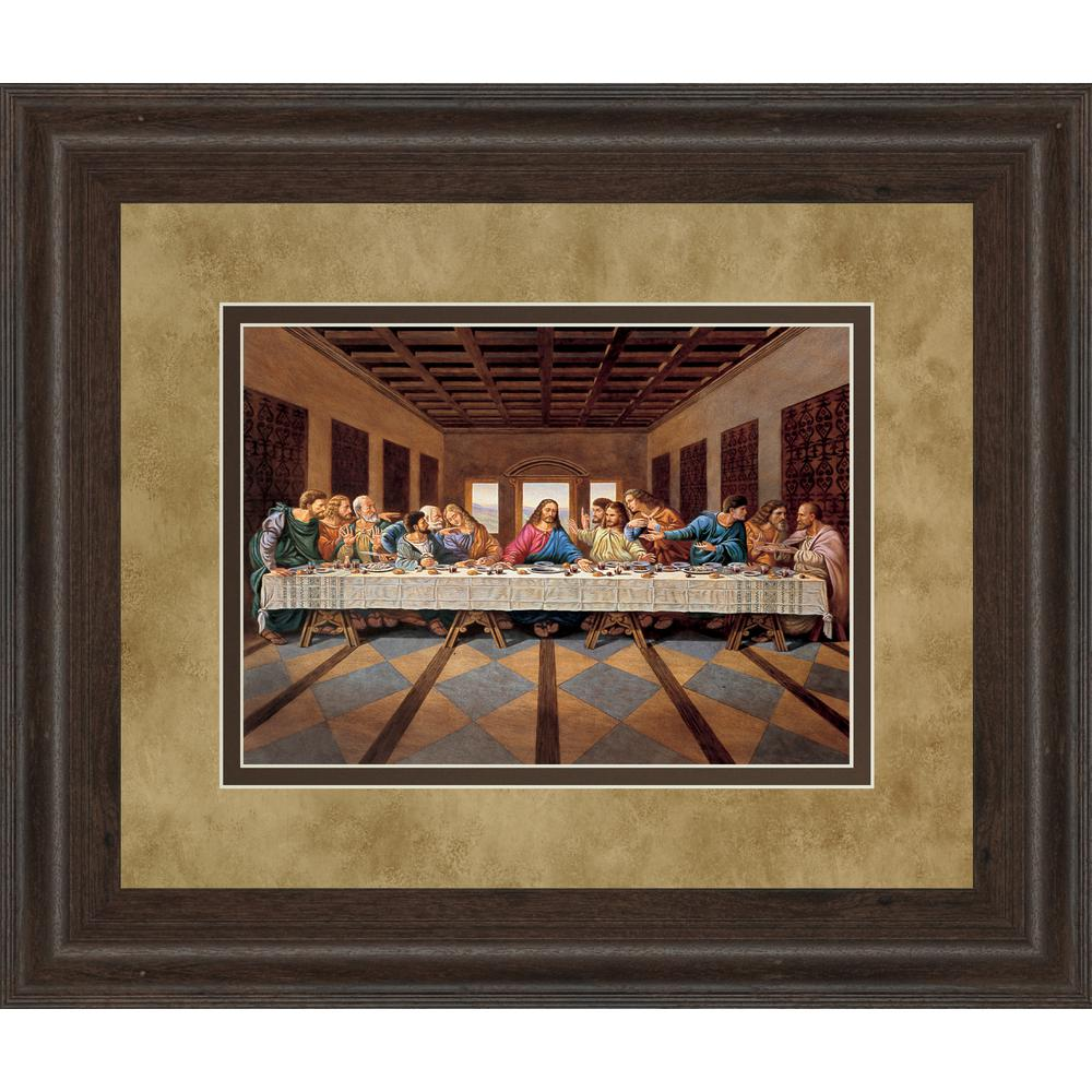 Cly Art 34 In X 40 Last Supper By Framed Printed