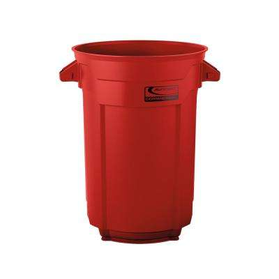 32 Gal. Red Commercial Trash Can