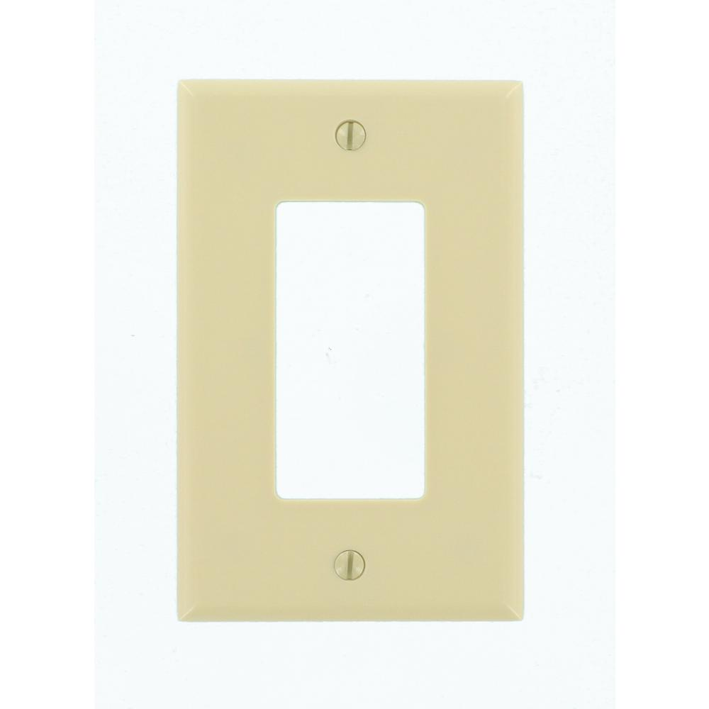 1- Gang Decora Midsize Wall Plate, Ivory