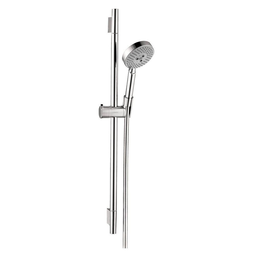 hansgrohe unica s 3 function spray wall bar set in chrome 04266000 the home depot. Black Bedroom Furniture Sets. Home Design Ideas