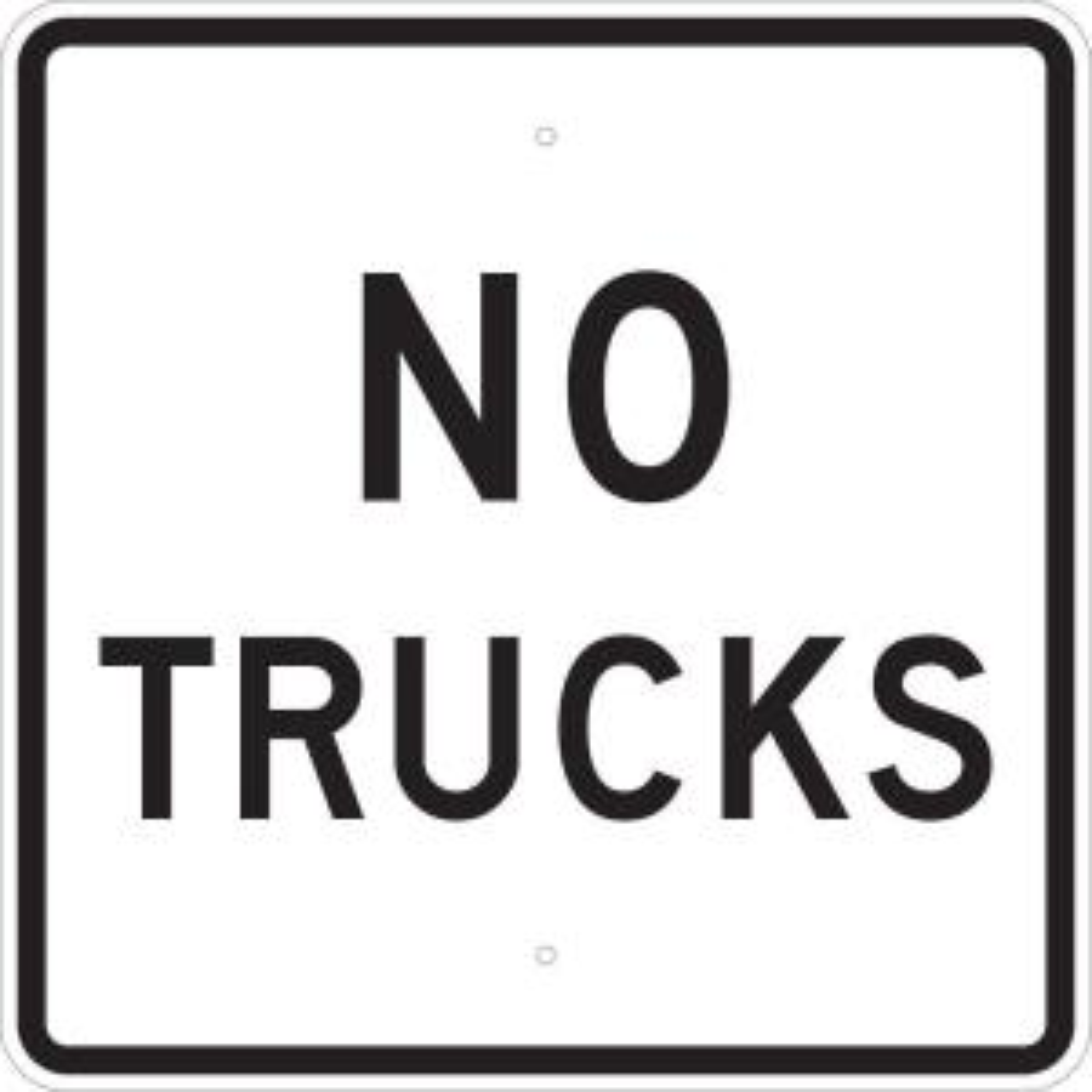 Brady 24 inch x 24 inch B-959 Reflective Aluminum No Trucks Traffic Sign by Brady