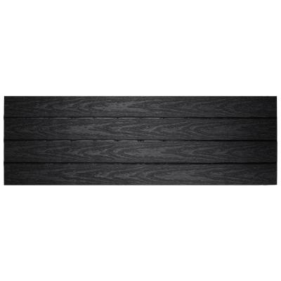 UltraShield Naturale 1 ft. x 3 ft. Quick Deck Outdoor Composite Deck Tile in Hawaiian Charcoal (15 sq. ft. Per Box)