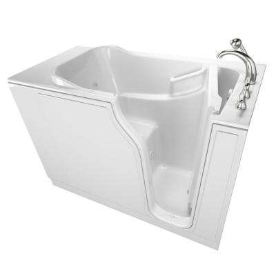 Gelcoat Entry 52 in. Right Hand Walk-In Whirlpool Bathtub in White
