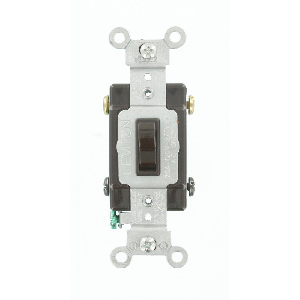 Leviton 20 Amp Commercial Grade 4-Way Toggle Switch, Brown-54524-2 on home depot toggle switches, home depot screwdriver, home depot dimmer, leviton 3-way switch, home depot electrical key switches, home depot light switches, home depot night light,