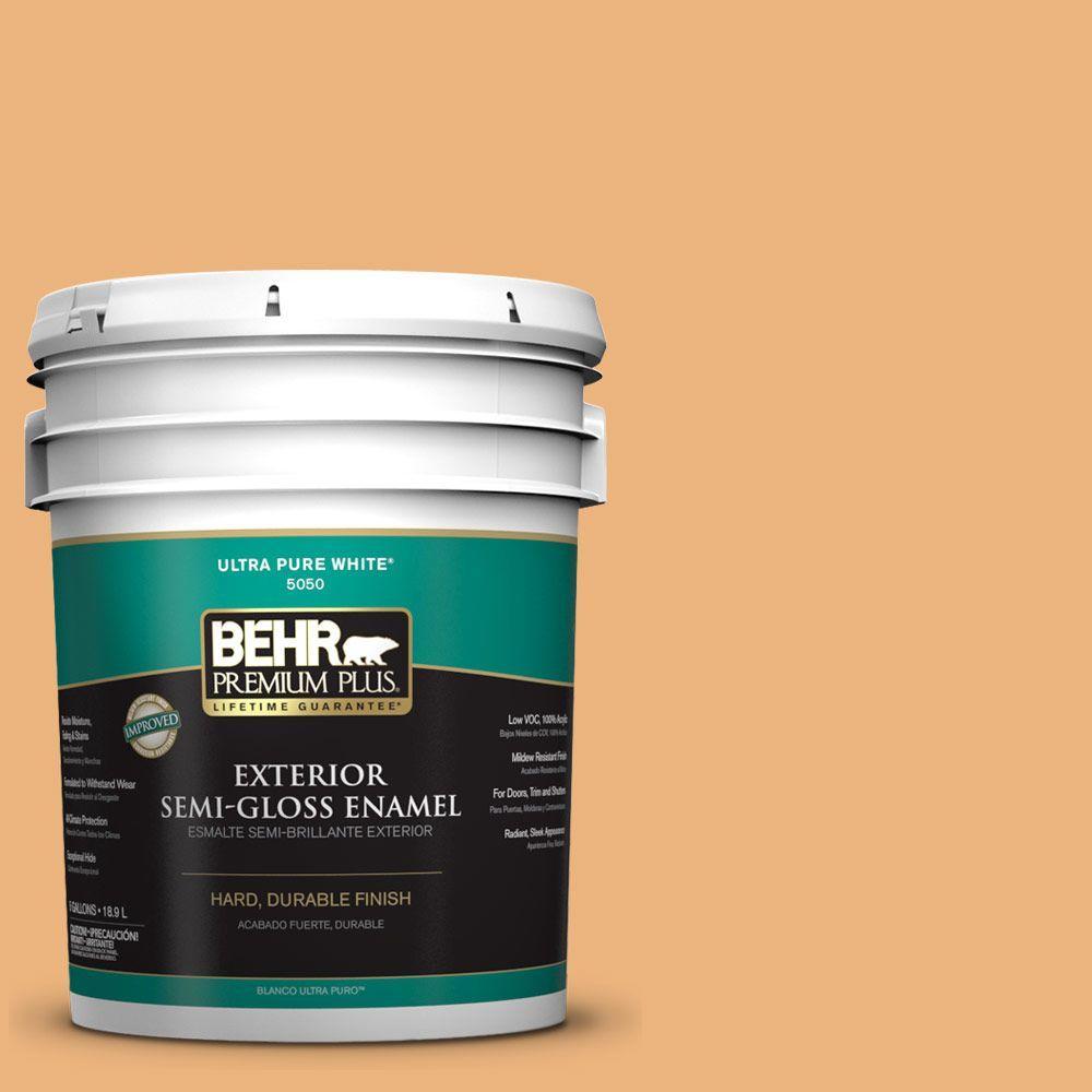 5-gal. #ICC-100 Eastern Amber Semi-Gloss Enamel Exterior Paint
