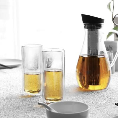Classic 12 oz. 4-Piece Double Walled Tall Glass Drinkware Set