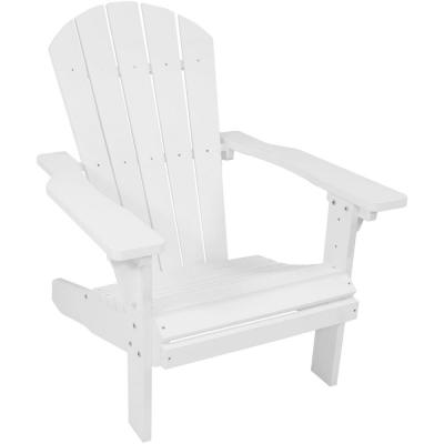 All-Weather White Patio Plastic Adirondack Chair