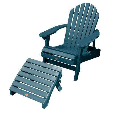 Hamilton Nantucket Blue 2-Piece Recycled Plastic Outdoor Seating Set