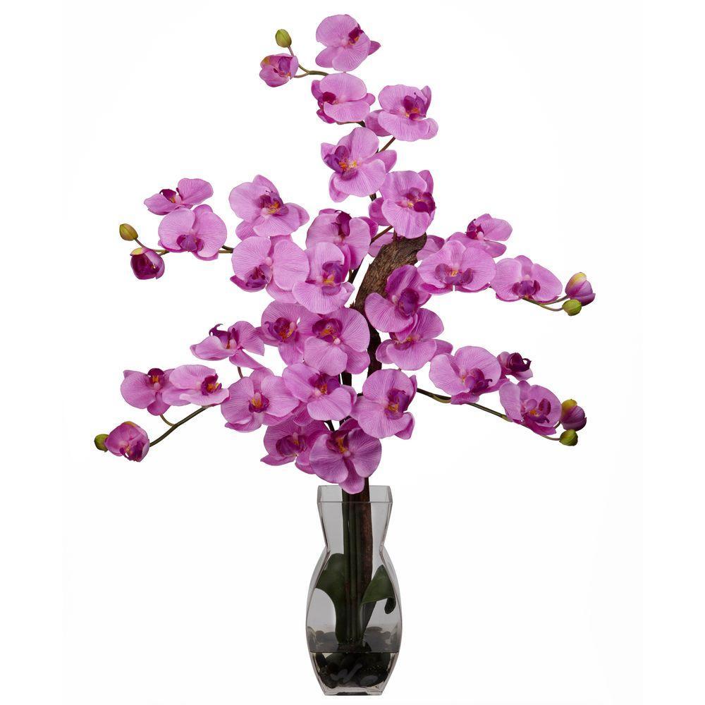 29 in. H Mauve Phalaenopsis with Vase Silk Flower Arrangement 1191-MA