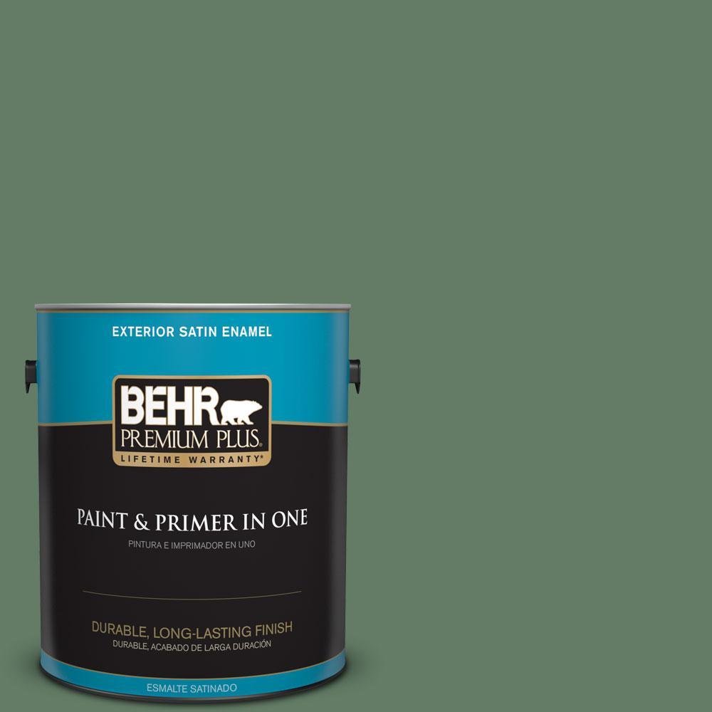 1-gal. #S410-6 Greener Pastures Satin Enamel Exterior Paint