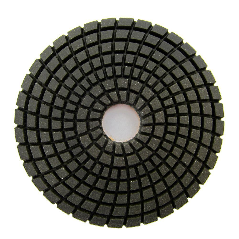 4 in. #100 Grit Wet Diamond Polishing Pad for Stone