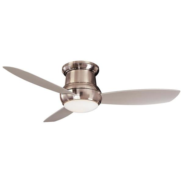 Concept II Wet 52 in. Integrated LED Indoor/Outdoor Brushed Nickel Wet Ceiling Fan with Light with Wall Control
