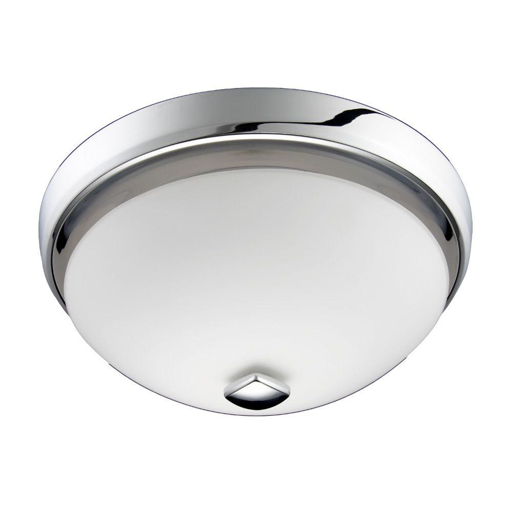 Nutone Decorative Chrome 100 Cfm Ceiling Bathroom Exhaust Fan With Light Energy Star
