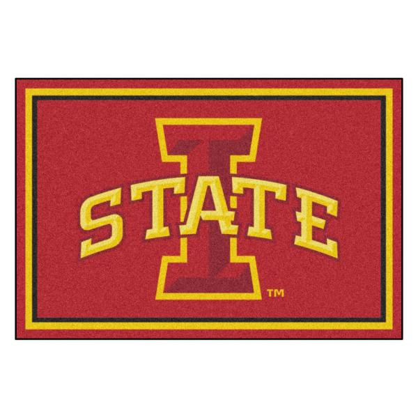 NCAA - Iowa State University Red 8 ft. x 5 ft. Indoor Area Rug