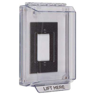 1-1/4 in. Universal Stopper Low Profile with Back Plate and Flush Devices - Clear