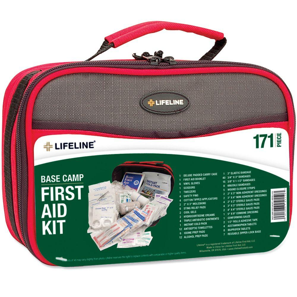 Lifeline 171-Piece Base Camp Emergency First Aid Kit