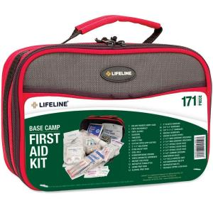 Lifeline 171-Piece Base Camp Emergency First Aid Kit by Lifeline