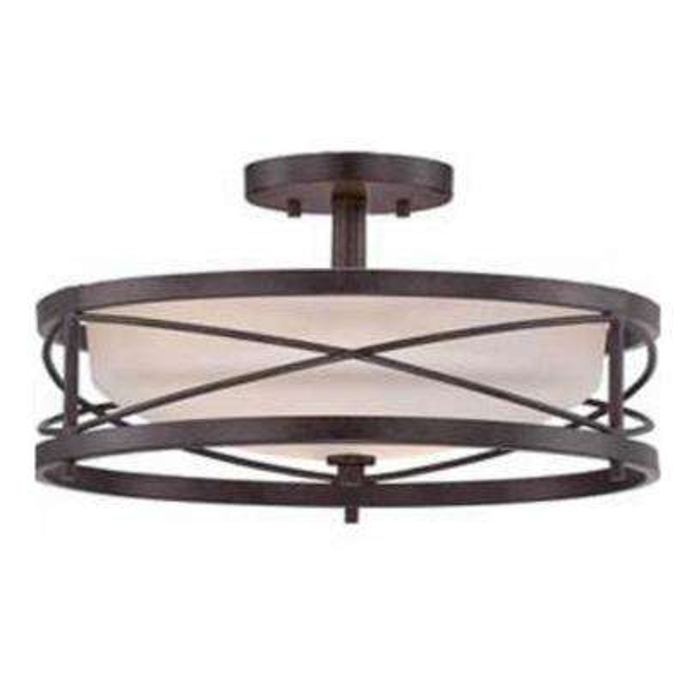 2-Light Oil Bronze Semi-Flushmount