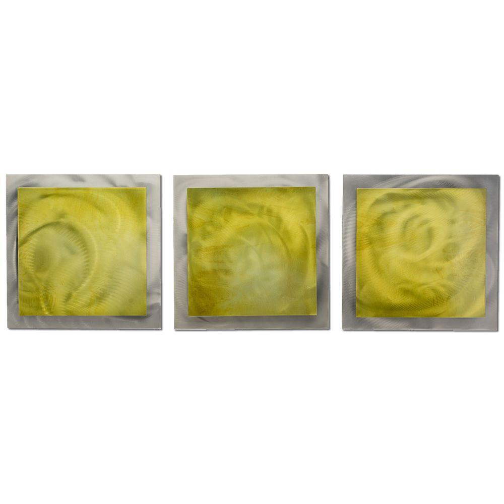 Filament Design Brevium 12 in. x 38 in. Yellow Essence Metal Wall ...