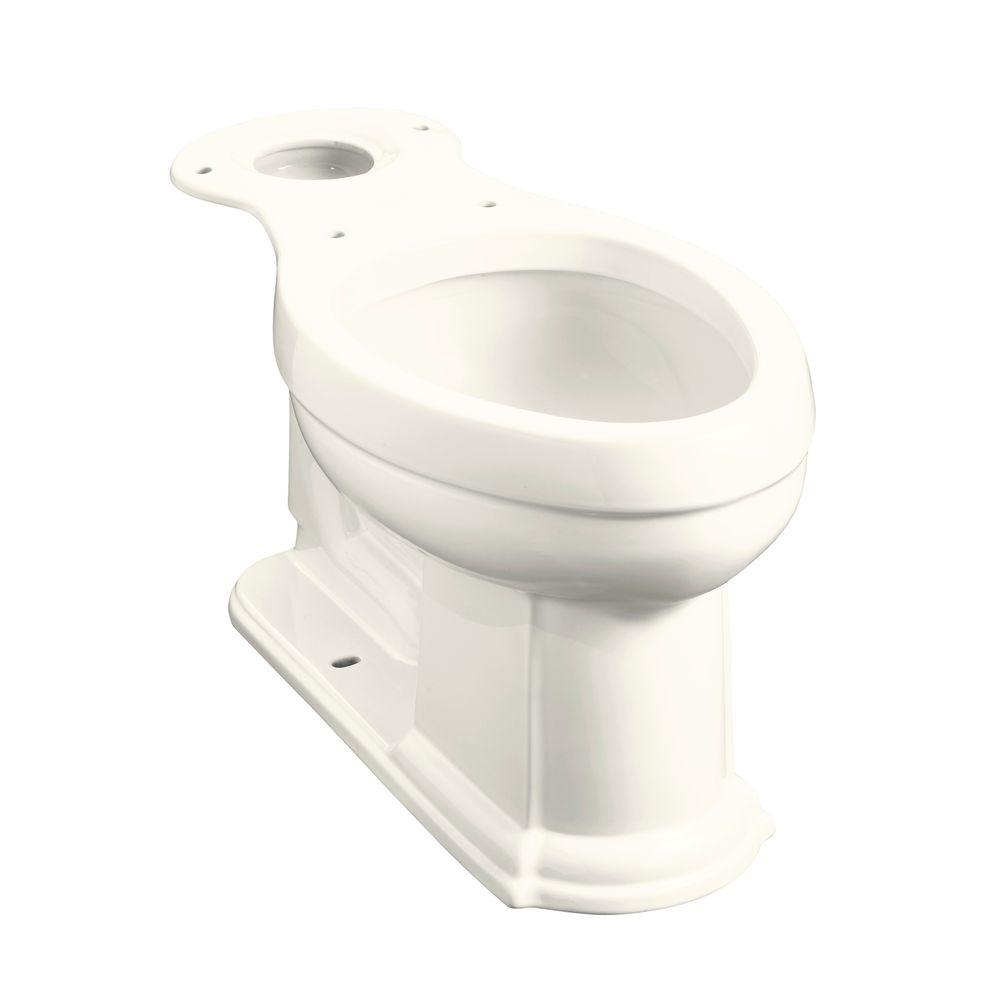 Devonshire Comfort Height Elongated Toilet Bowl Only in Biscuit